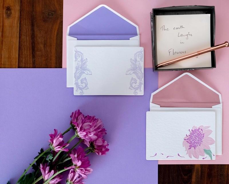 Fleur-ish- Letterpress Notecards