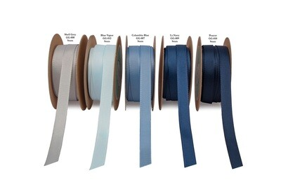 Blue & Grey Grosgrain Ribbon