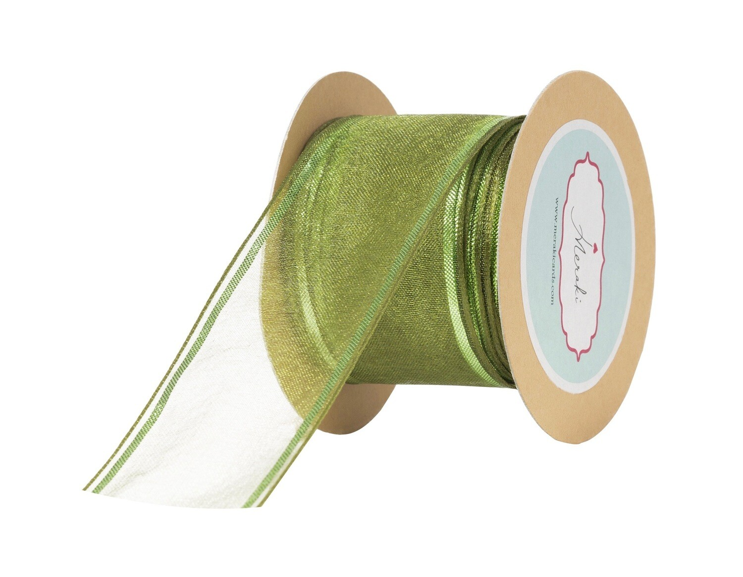 Forest Green Sheer Ribbon