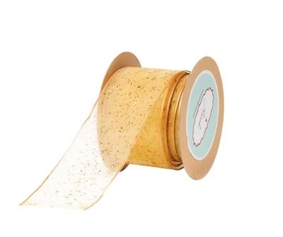 Light Gold- Multi-Coloured Confetti