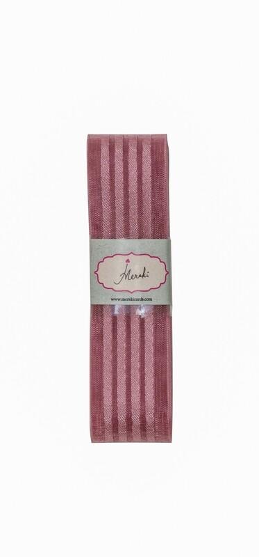 Dirty Rose Sheer - 4 satin stripes