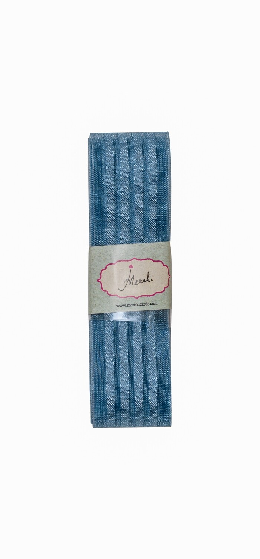 Antique Blue - 4 satin stripes