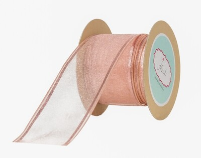 Dusty Rose Sheer Ribbon