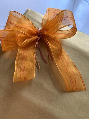 Saffron Orange - Red Centre Fringe
