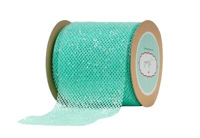 Aqua Net Ribbon with Glitter