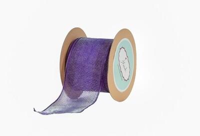 Purple-(Net )Wired Ribbon.