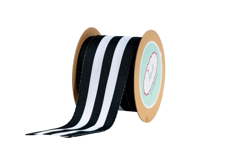 Black & White Stripes -Grosgrain