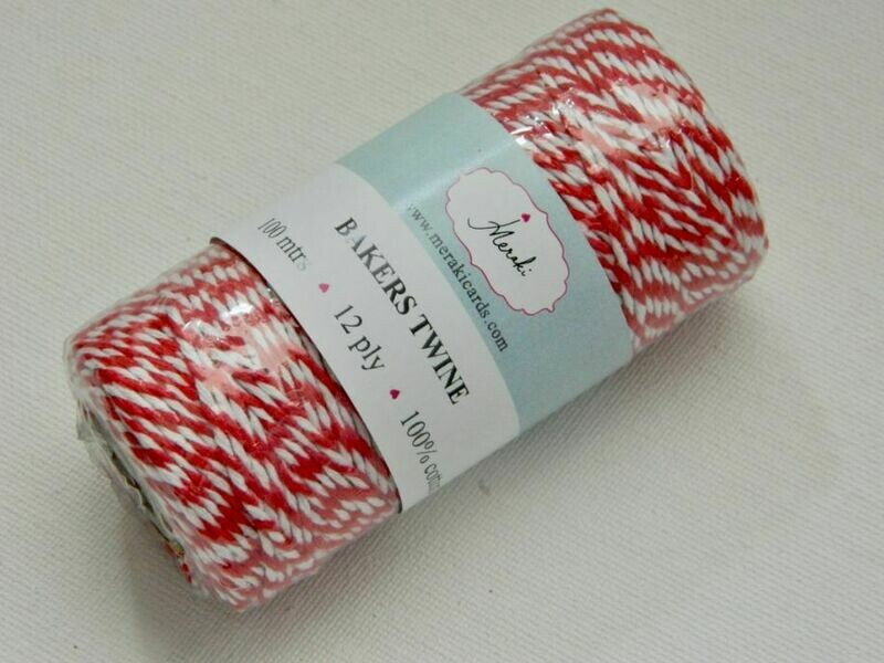 Bakers Twine- Red and White