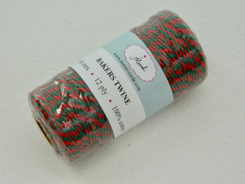 Bakers Twine- Green and Red