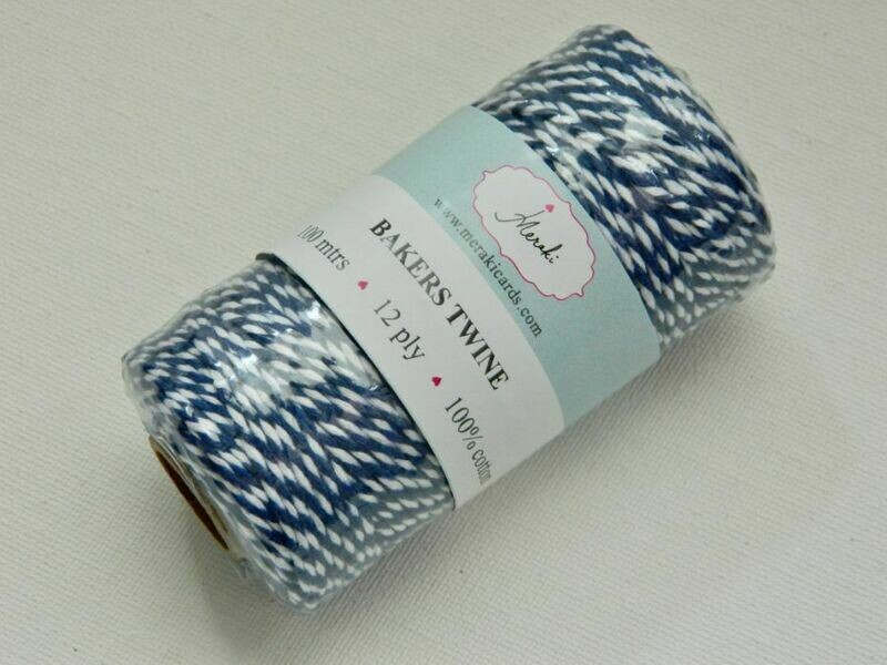 Bakers Twine- Blue White