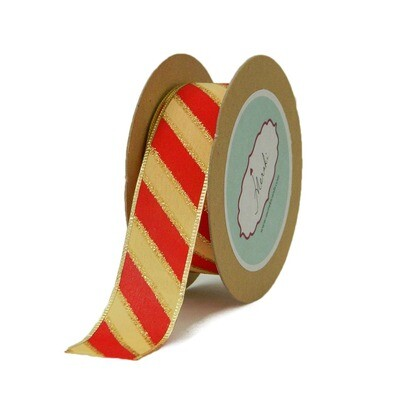 Glittery Candy Stripes -Christmas Ribbon