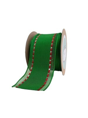 Green with Red Saddle Stitch
