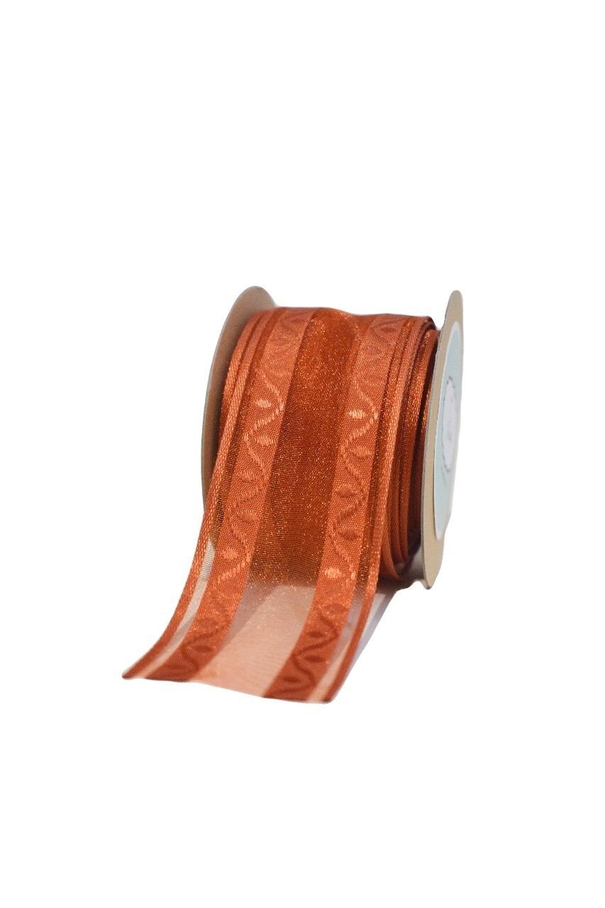 Copper Sheer Ribbon with Satin Edges