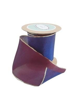 Jewel Tone Purple Ribbon with Gold Trim