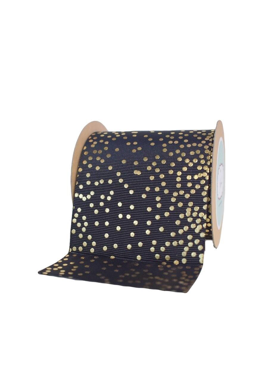 Gold Dots -Grosgrain ribbon