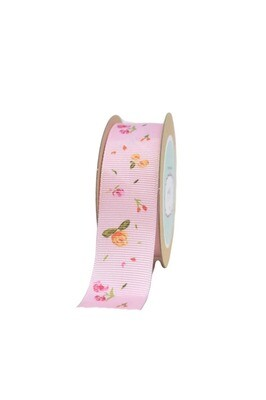 Grosgrain ribbon with Fallen flowers