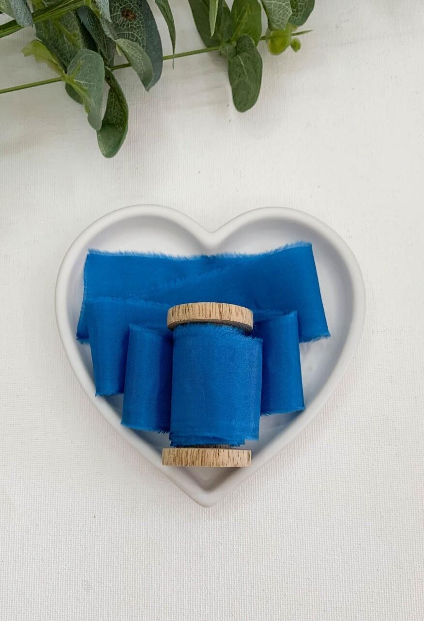 French Blue - Silk Ribbon