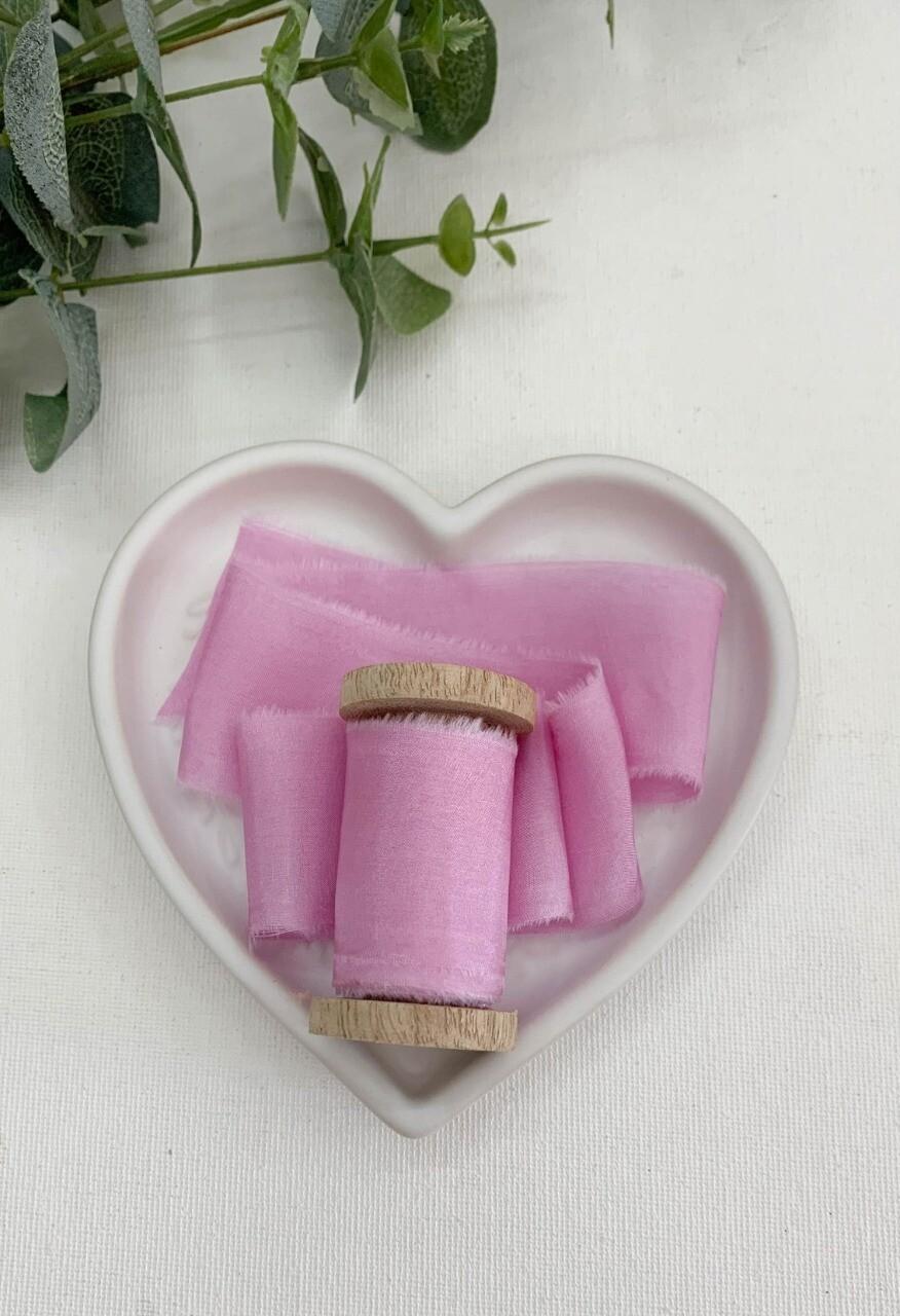 Pink Frosting- Silk Ribbon