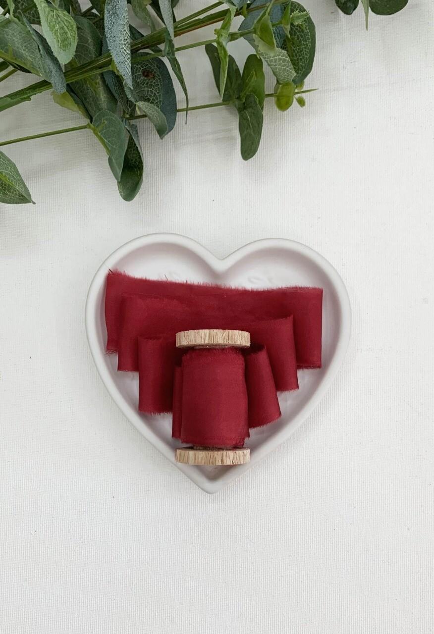 Crimson - Silk Ribbon