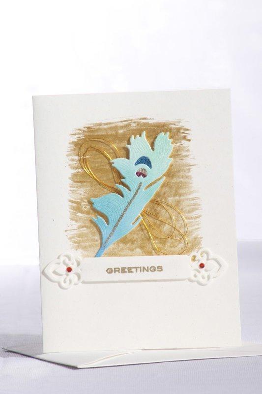Peacock Feather - Festive Card