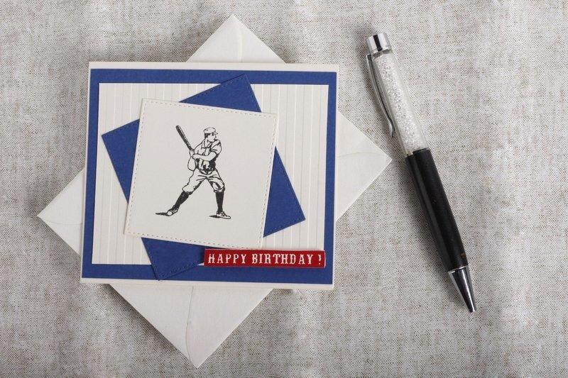 Male - Blue Baseball (Birthday Card)
