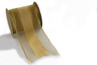Wired - Gold Sheer With Woven Satin Centre