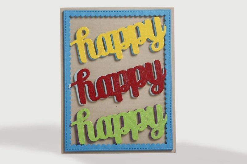 Retro - Happy Card
