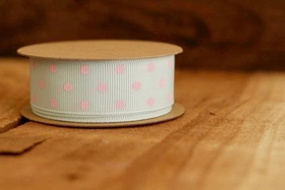 Mint and Pink Polka Dots