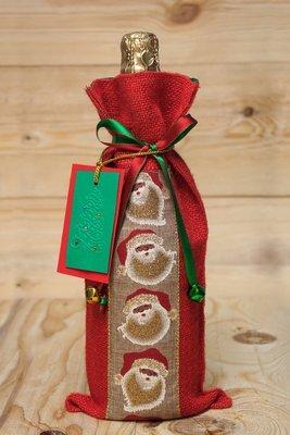 Santa Wine Bag