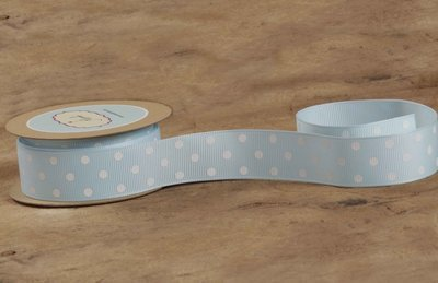 Light Blue with White Polka Dots