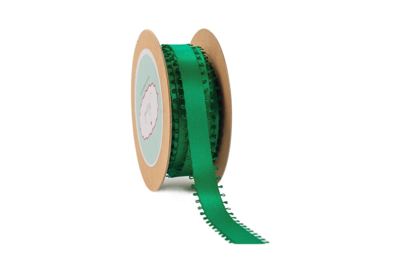 Dark Green Satin- Picot edges