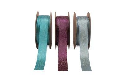 Glitter Satin - Turquoise, Amethyst,  Blue Topaz