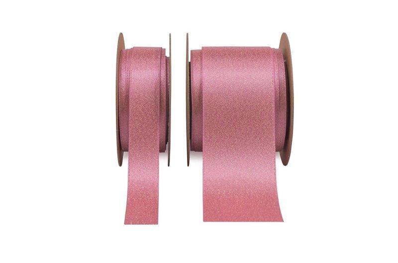 Glitter Satin - Hot Pink