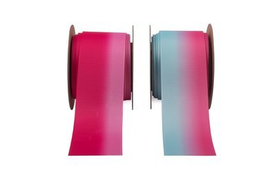 Shaded Pink & Blue Grosgrain Ribbon
