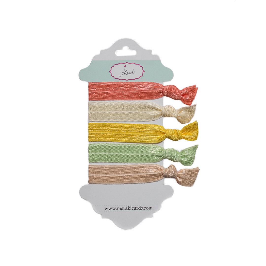 Marshmallow-  Hair Ties