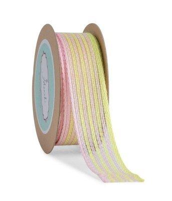 Yellow & Pastel Pink Jute Ribbon