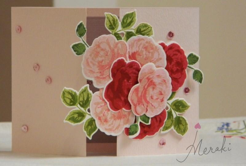 Double Folding- Vintage Roses