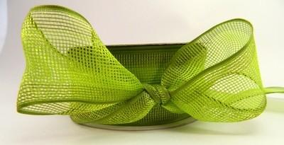 Grass Green-(Net )Wired Ribbon.