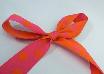 Reversible - Orange and Hot Pink Woven Polka dots