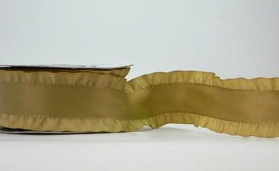 Dull Gold- Ruffled Edge Ribbon