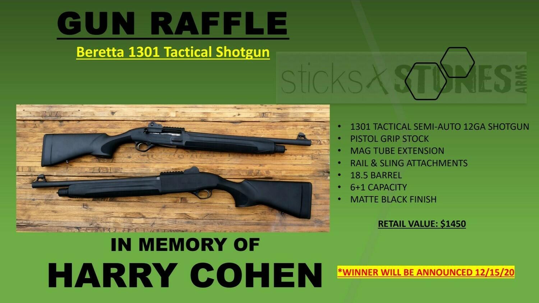 Beretta 1301 Tactical Shotgun Raffle