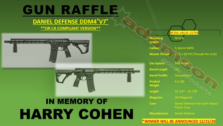 Daniel Defense V7 Gun Raffle
