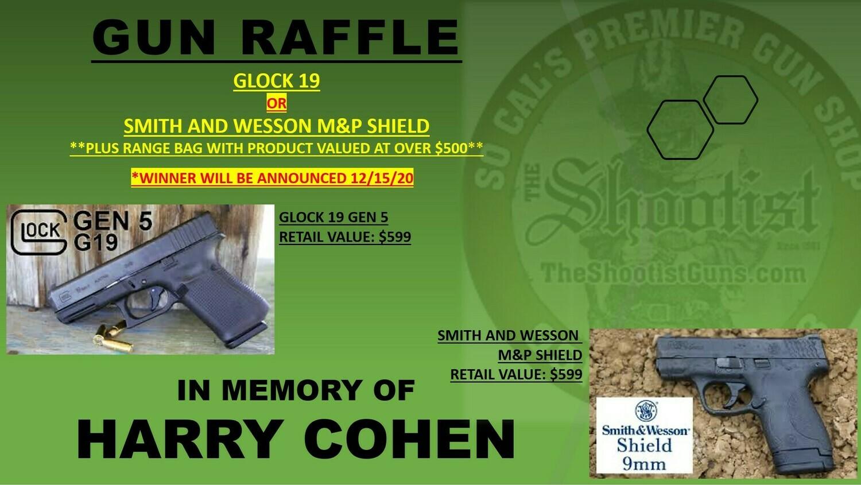 Glock 19 or M&P Shield Gun Raffle