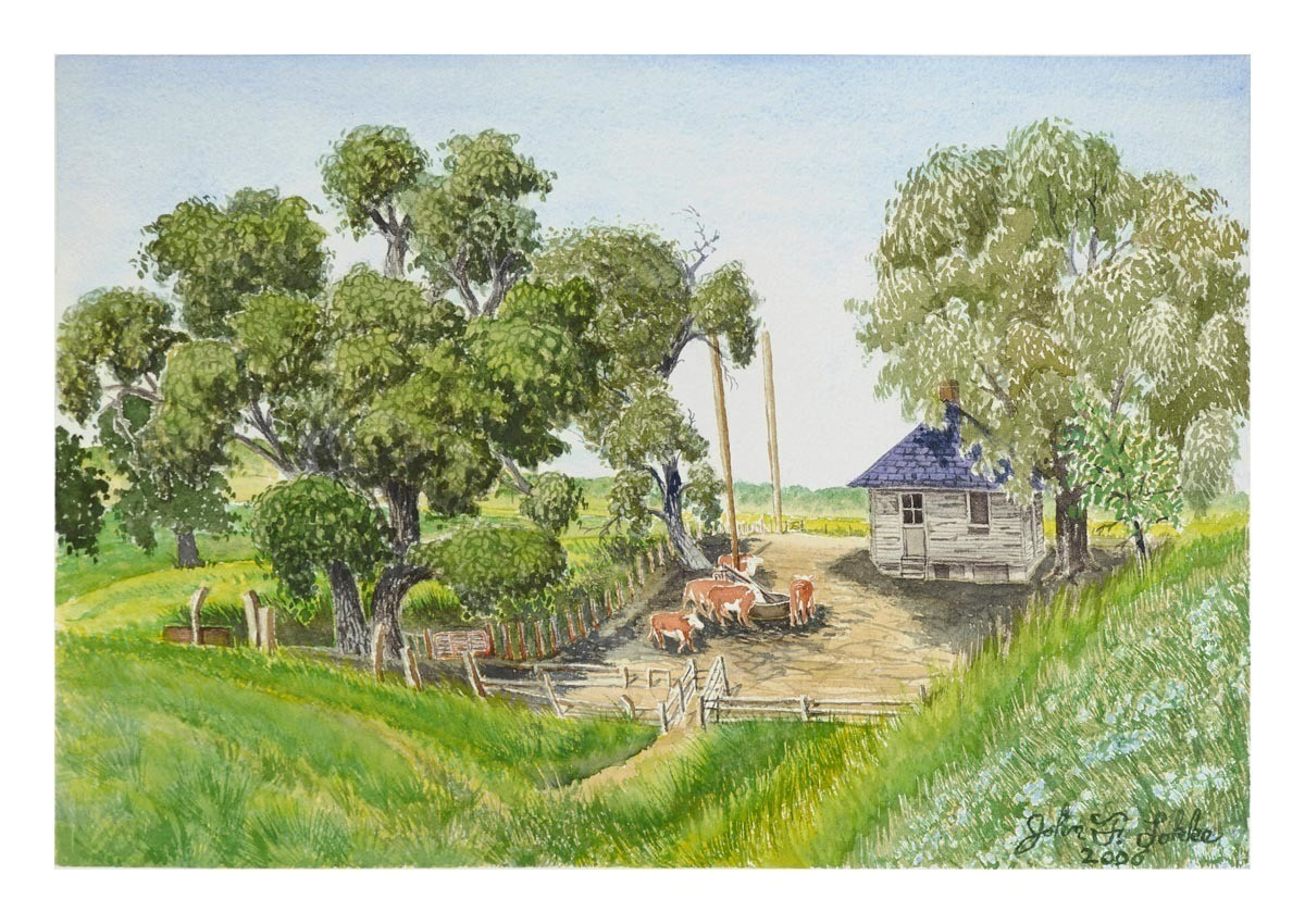 The Cow House, County Line Road, Unframed