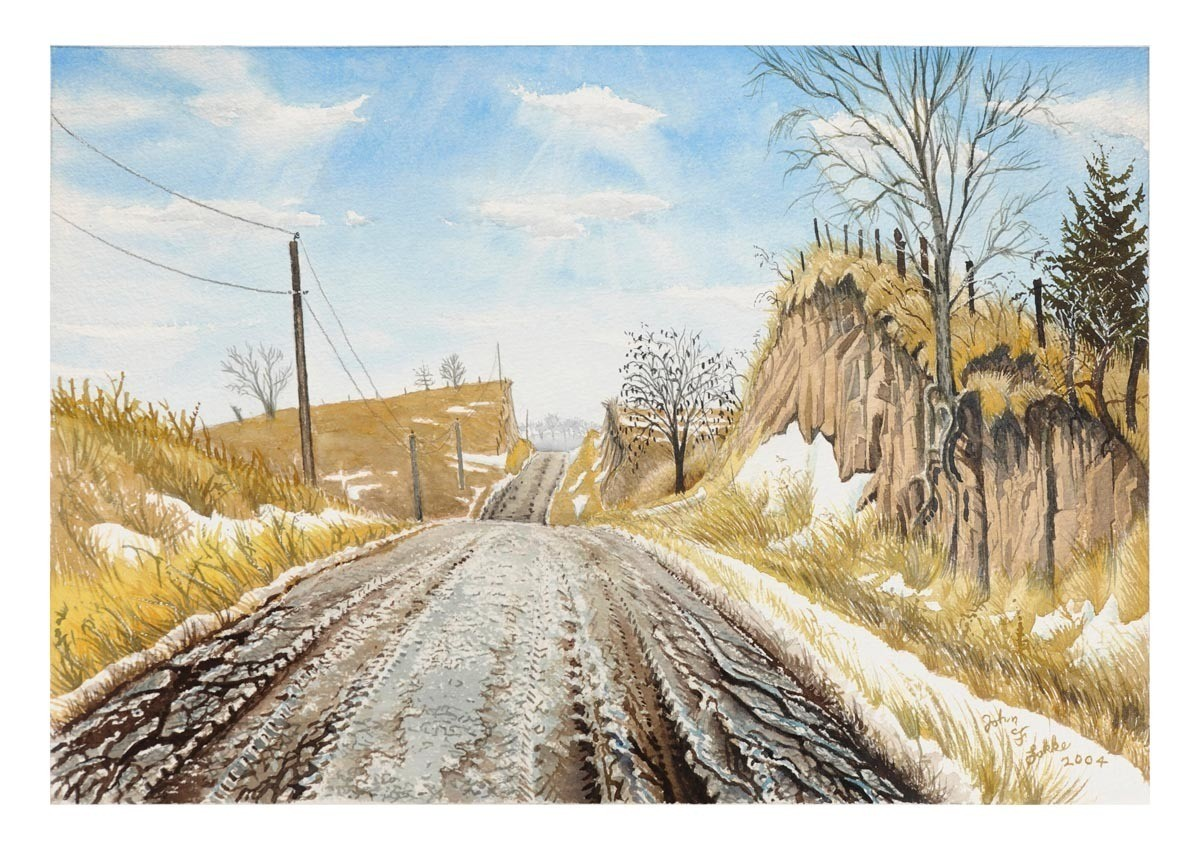 Road Cuts in Loess, 656 Ave, Richardson County, Framed