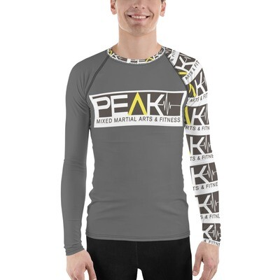 Men's Rash Guard- Grey Urban w collar