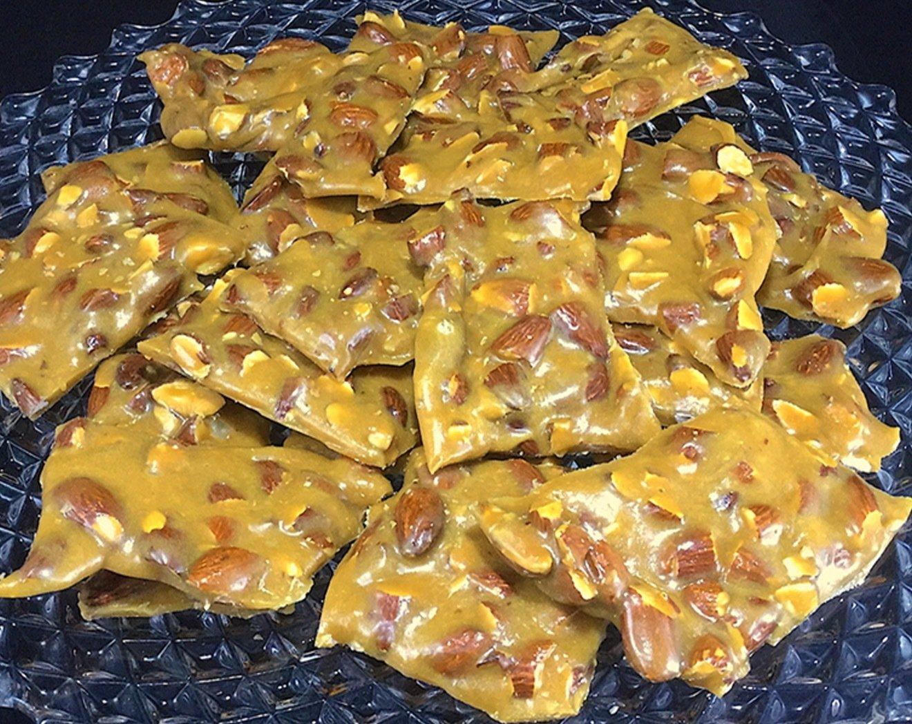 Toasted Almond Caramel Brittle  (1/2  pound)