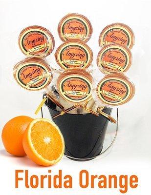 Amyzing Florida Orange Caramel Pops  (10, one-ounce pops)
