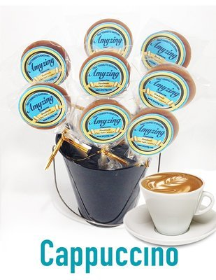Amyzing Cappuccino Caramel Pops  (10, one-ounce pops)