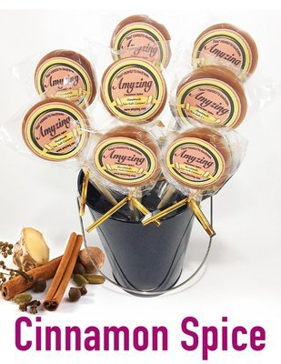 Amyzing Cinnamon-Spice Caramel Pops  (10, one-ounce pops)